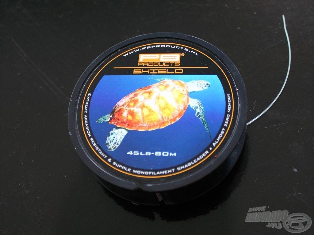 Az utolsó 15-20 méteren azonban a PB Products Shield kagylóálló monofil zsinórját használtam