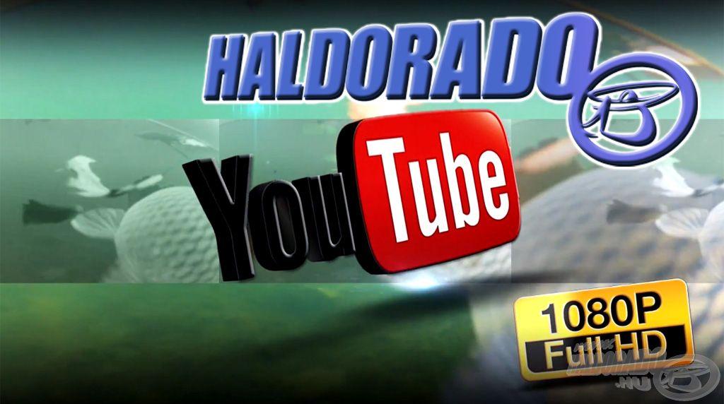 A Haldorádó által készített horgászfilmek a YouTube segítségével nézhetők meg az oldalon