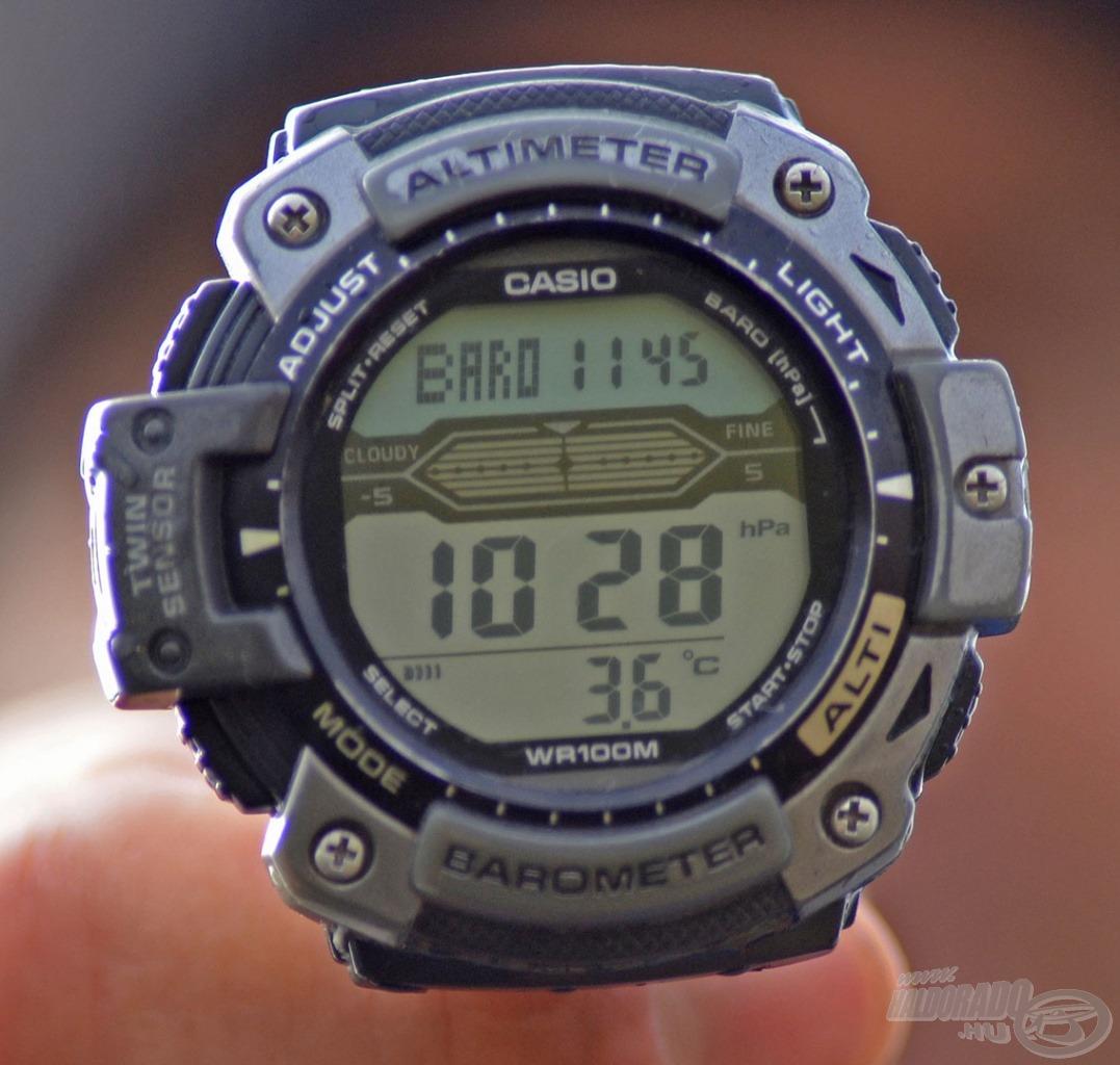 A légnyomás kellően magas: 1028 hPa, míg a víz hőmérséklete csak 3,6 Celsius-fok volt