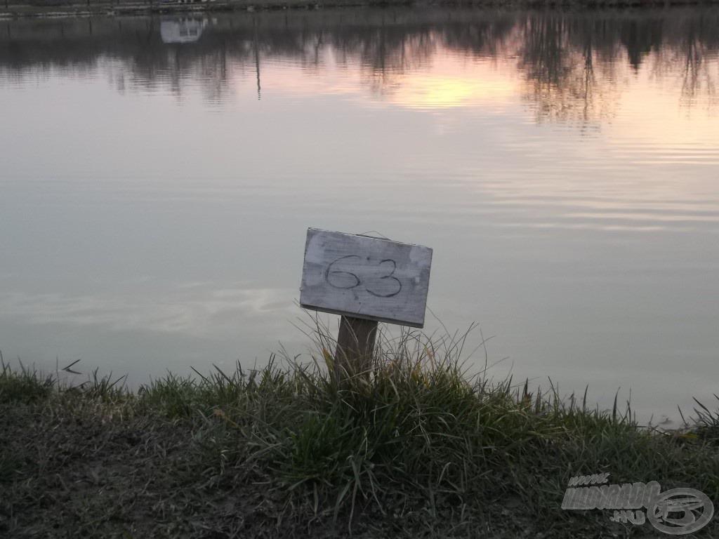 A 63-as hely, ahol gyakran horgászom