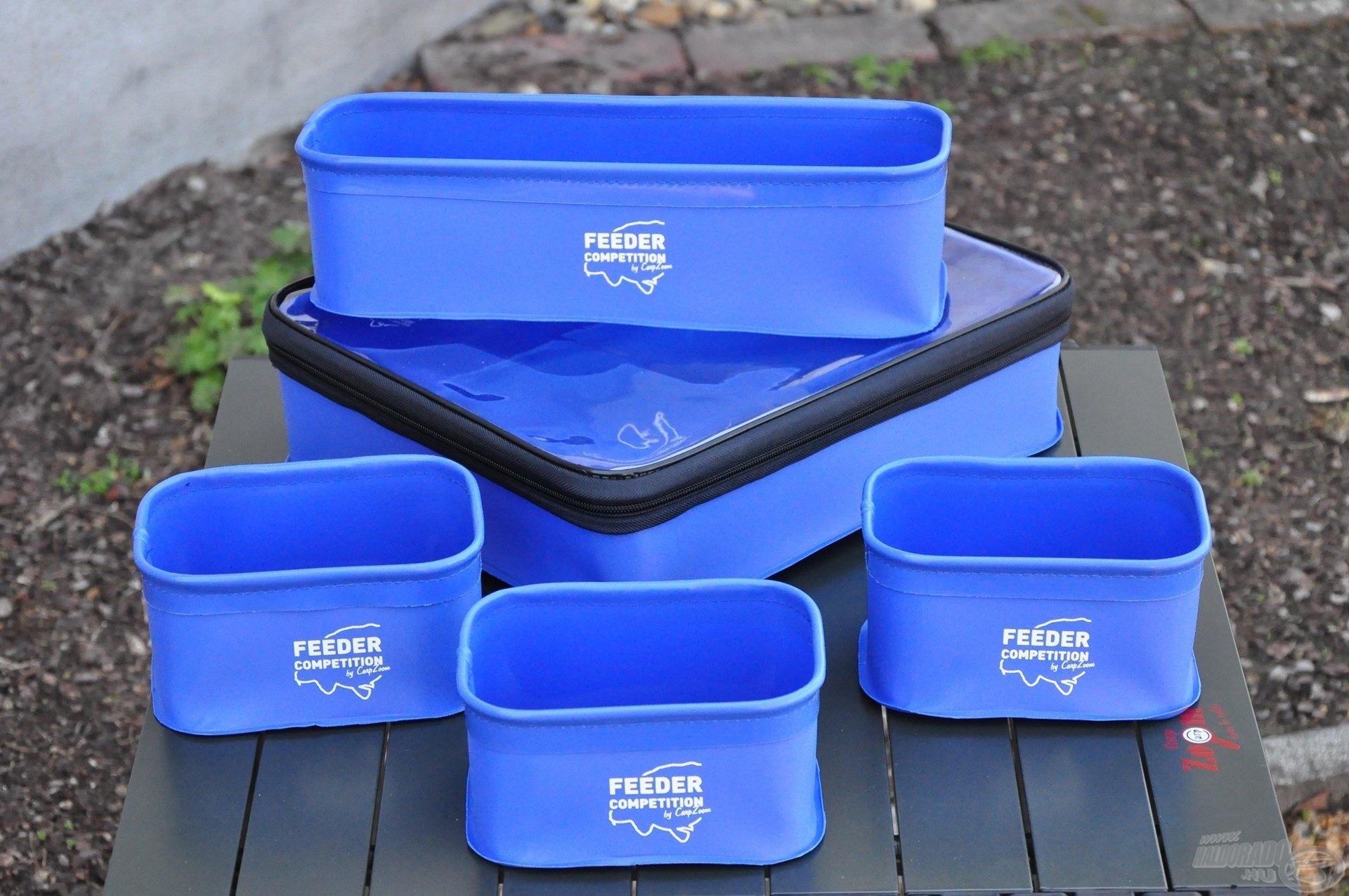 Nemcsak praktikus, de kis helyigényű és könnyen tisztítható tároló szett