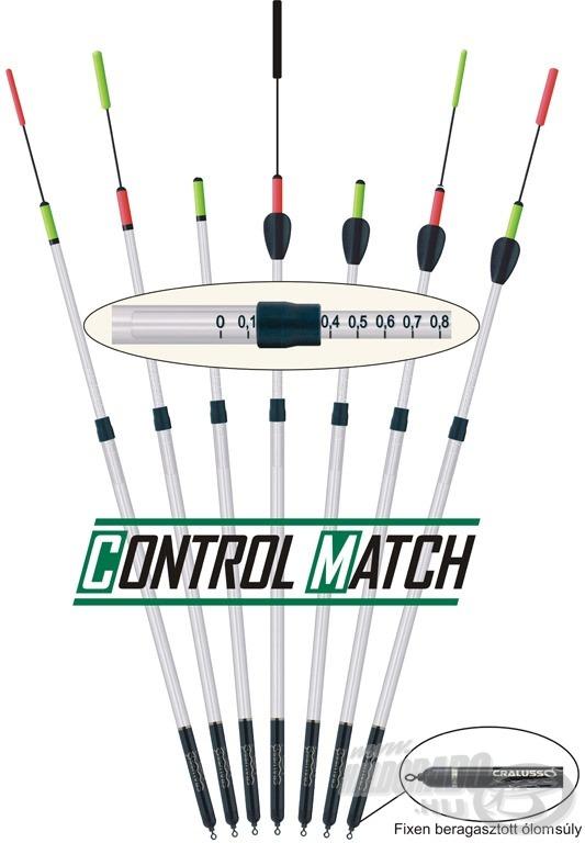 A Cralusso 2010-es fejlesztése, a Control Match úszó széria a matchbotos horgászok táborában számíthat nagy sikerre