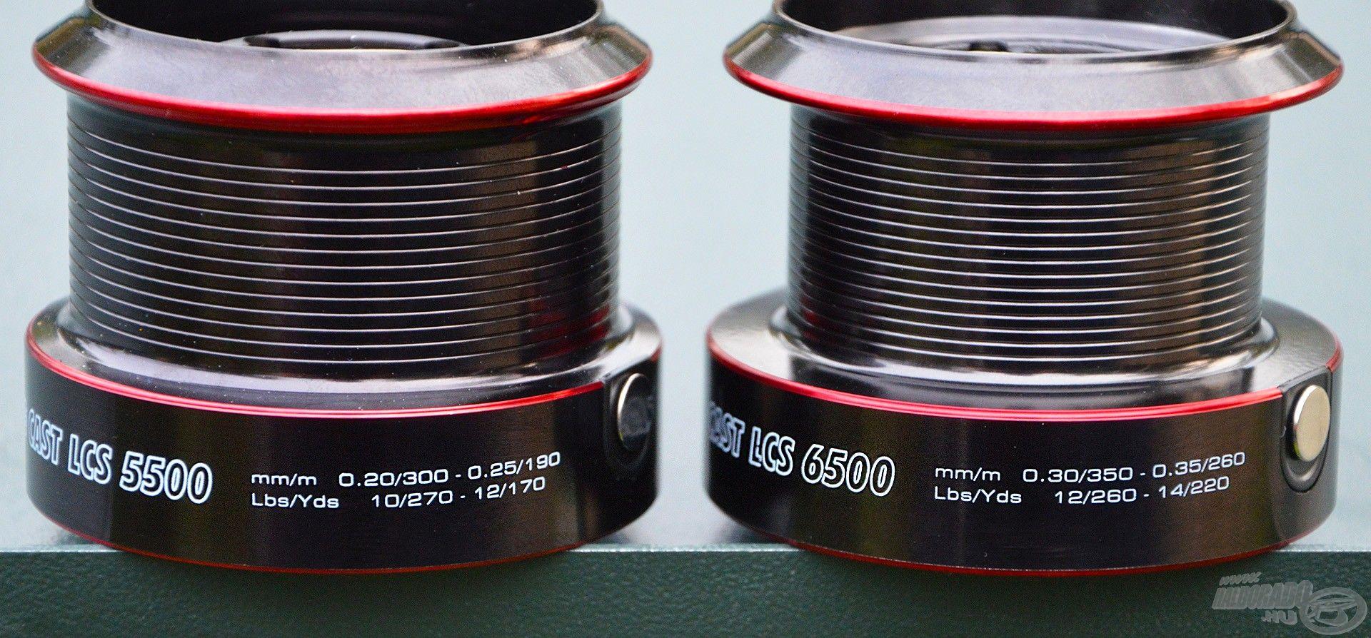 A 6500-as orsóra akár 350 méter 0,30 mm-es zsinór is tölthető