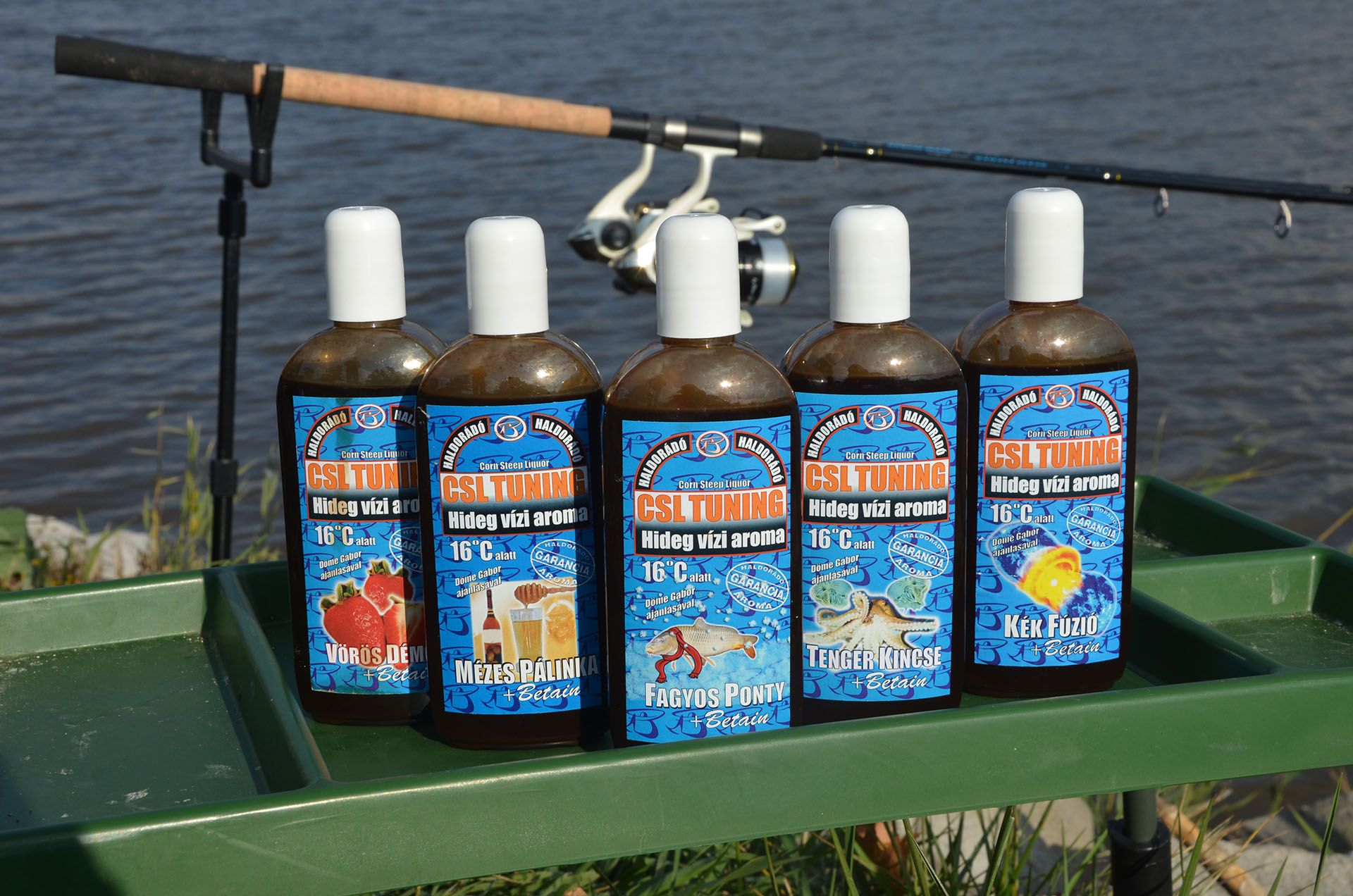 A CSL Tuning hideg vízi aroma megsokszorozza az etetőanyagok és csalik csalogatóhatását még az erősen lehűlt vizekben is