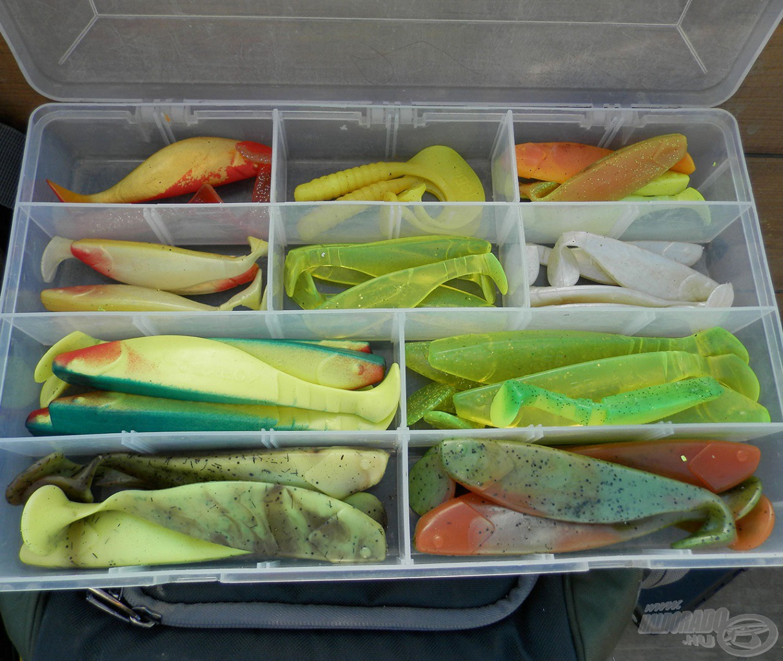 Nagyméretű, harcsáknak szánt gumihalaim