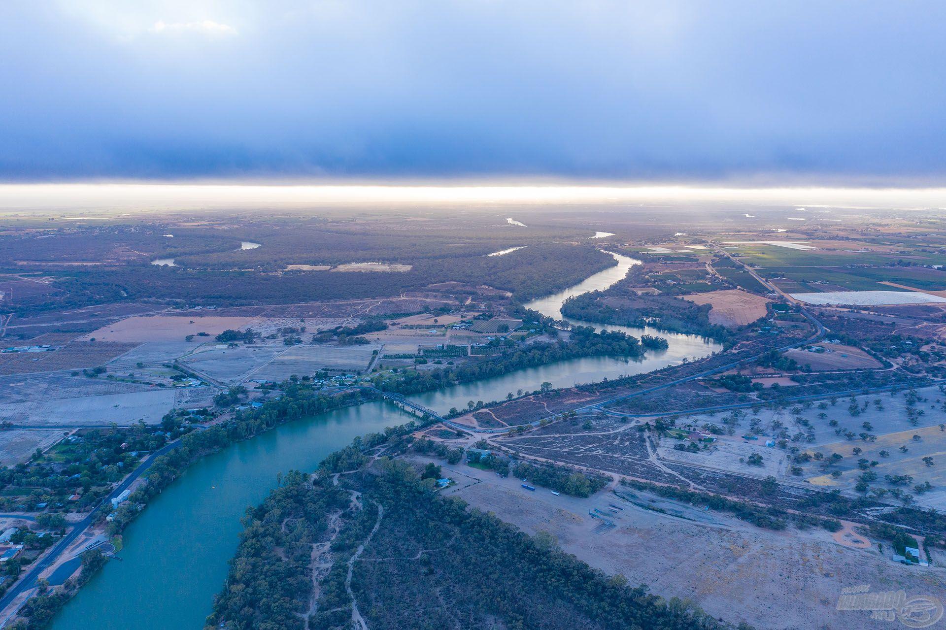 Ausztrália legnagyobb folyóján, a Murray folyón kezdtem a horgászatot