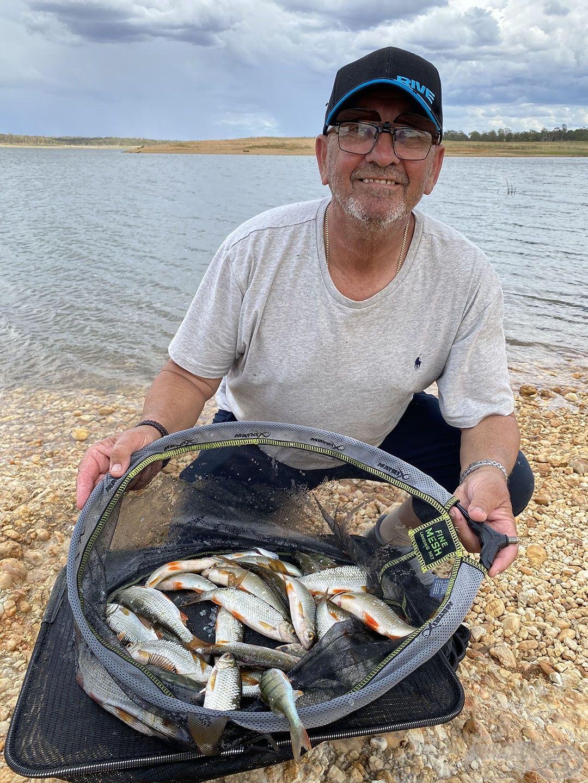 John úszós horgászatának eredménye