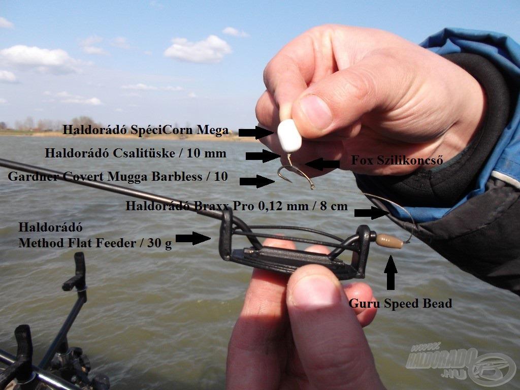Nagyhalas method végszerelékem SpéciCorn Mega csalikhoz