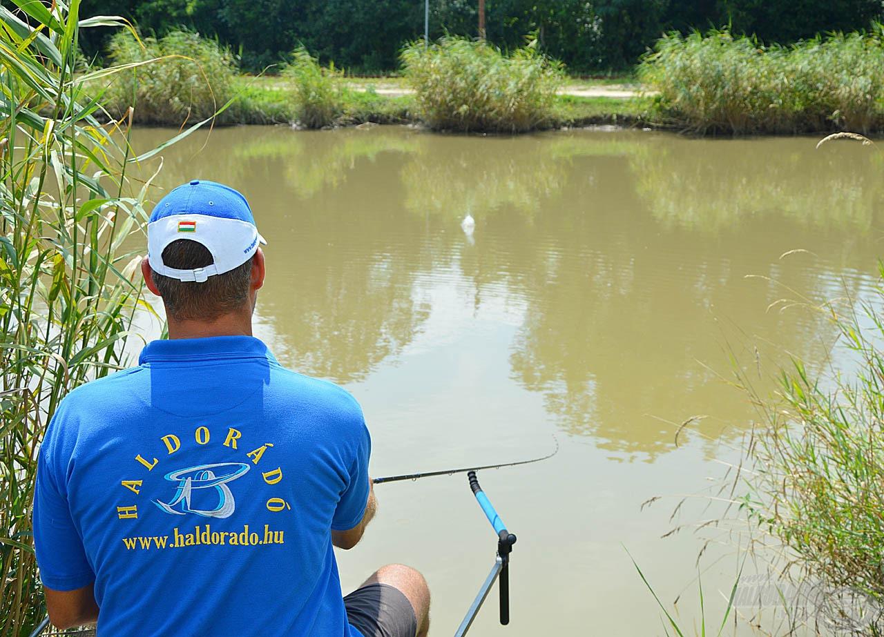 Minél kisebb a dobástáv, annál pontosabban lehet horgászni