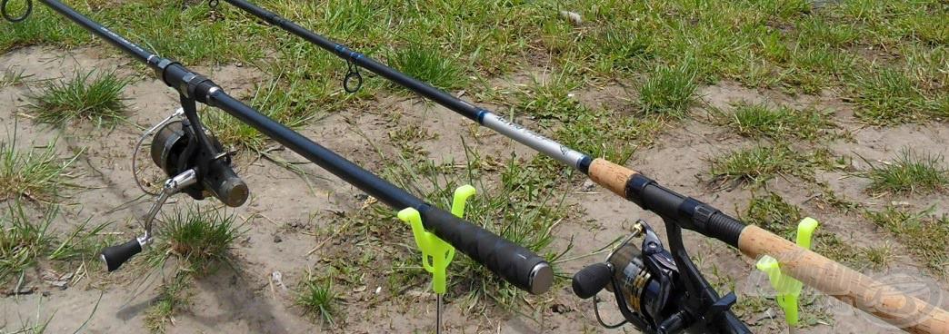 Állandó horgásztársaim: Carp Expert Double Tip és a Shimano botjaim