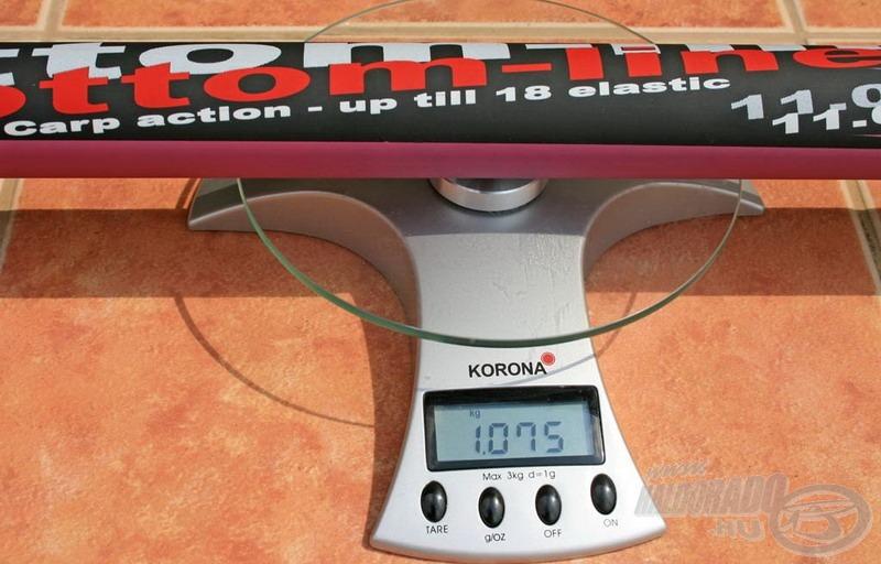 A bot 1.075 gramm és vágatlan teljes hosszban 10,85 méter