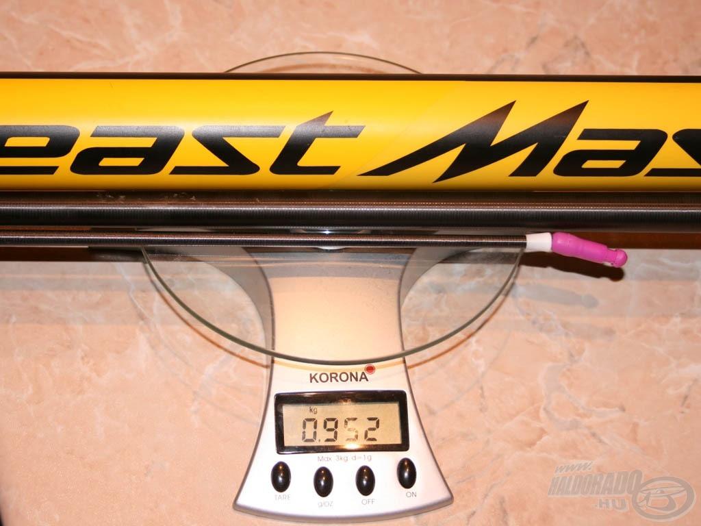 Gumizott bot tömege: 952 gramm