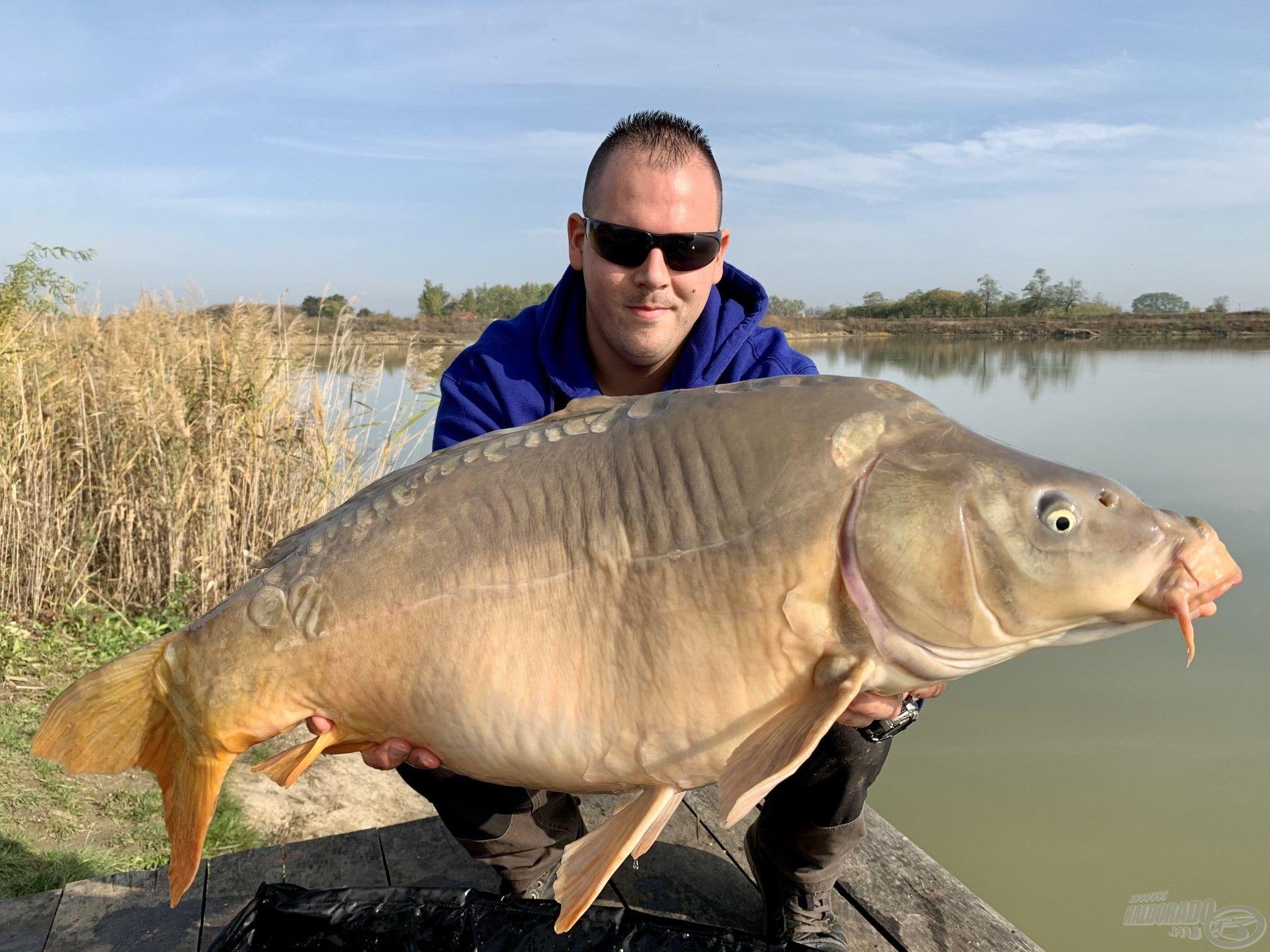 … ezekért a pillanatokért érdemes horgászni, közel a 15 kg-hoz ez a kapitális méretű tükörponty…