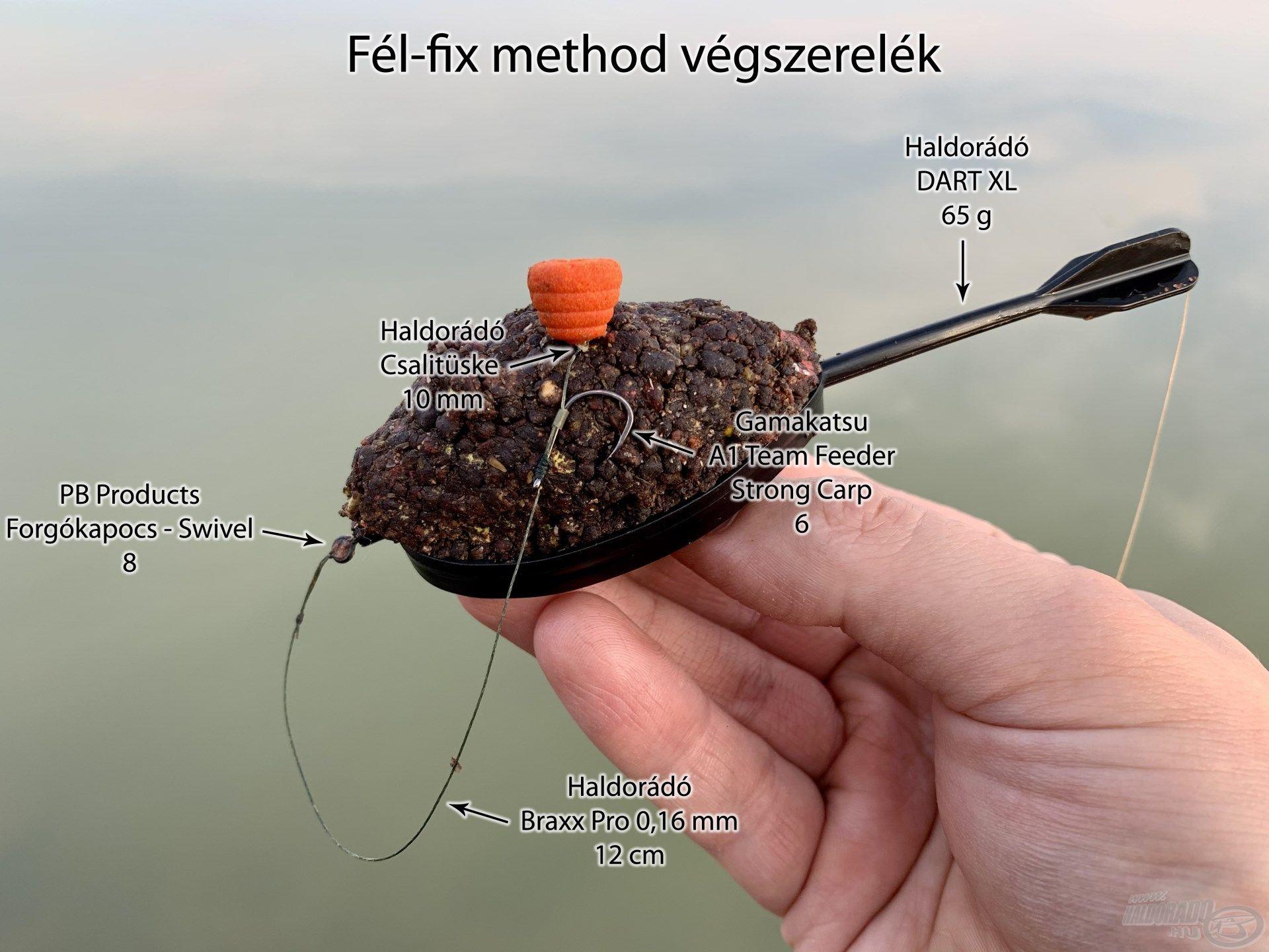Kedvenc fél-fix method végszerelékem, amivel könnyedén tudtam nagy távolságba horgászni