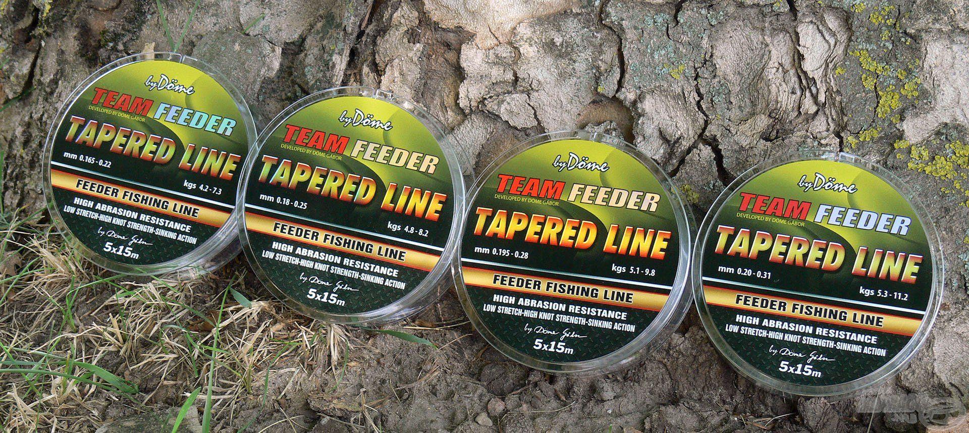 A By Döme TEAM FEEDER Tapered Leader dobóelőke zsinórok arra lettek kifejlesztve, hogy biztonságos és szabályos módon tudjunk velük minél távolabb horgászni!