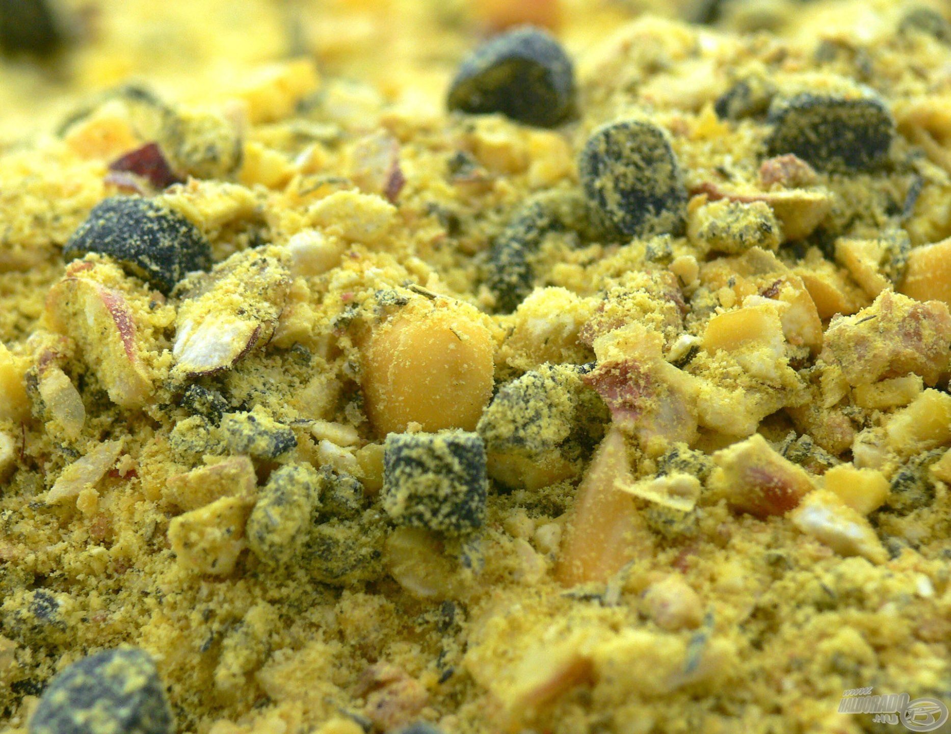 Rendkívül gazdag beltartalom jellemzi, enyhén édes és savanykás vajsav + mangó aromáját imádják a pontyok!