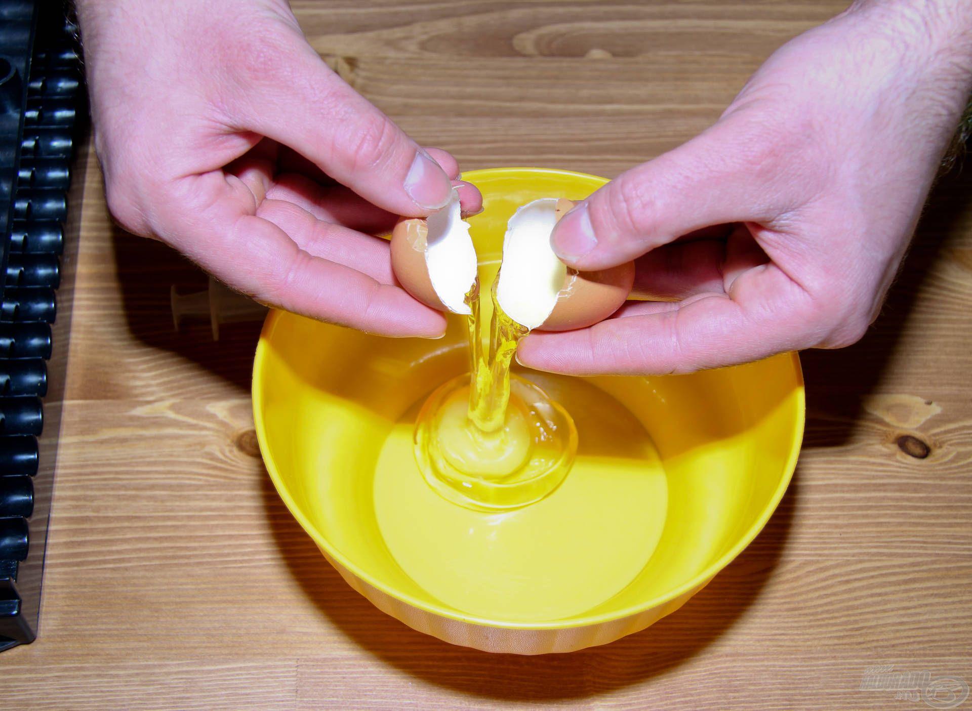 Törjük fel a tojást egy tálba…