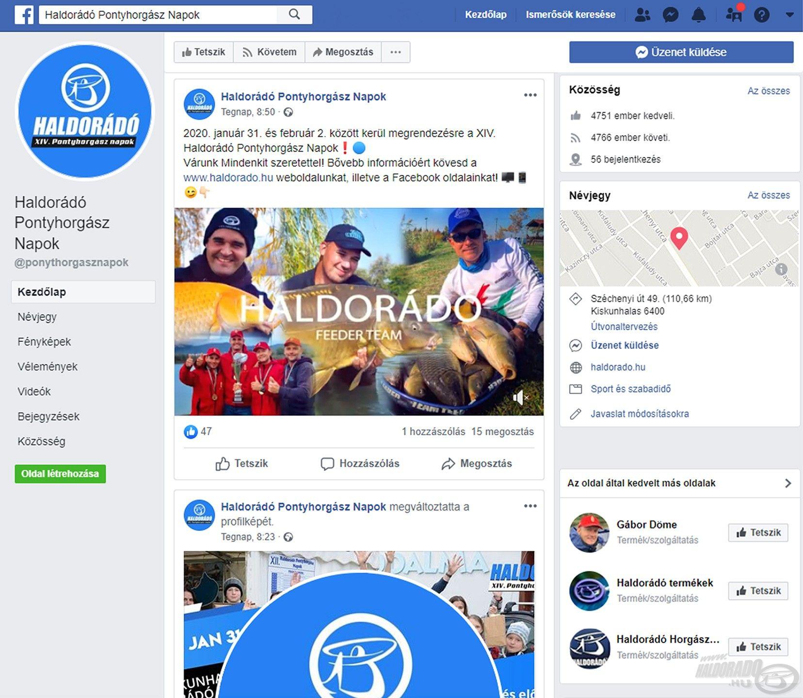 Érdemes figyelemmel kísérni az esemény Facebook-oldalát is, mert itt minden nap találkozhattok hasznos új információkkal!