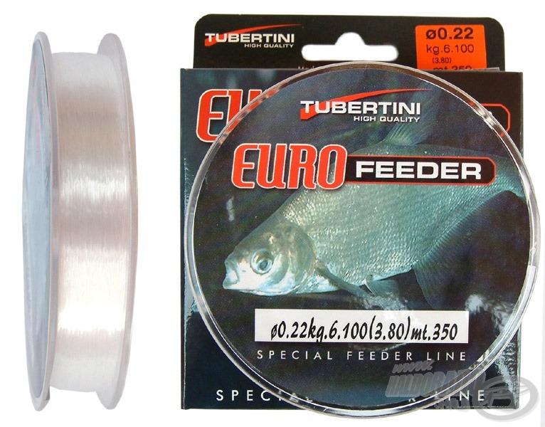 A Tubertini Euro Feeder tökéletes főzsinór, mert minimális mértékben nyúlik