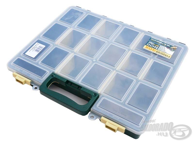 Ebben a dobozban 16 db kisebb-nagyobb rekesz található