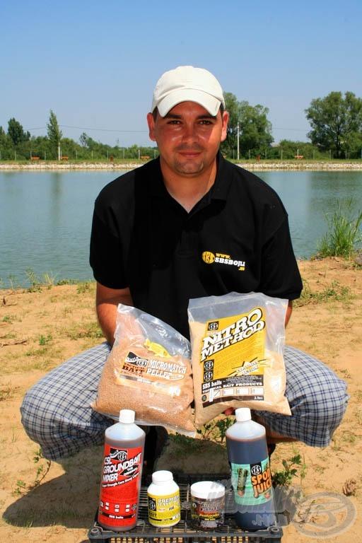 A feederbotos technikához a Bio Big Fish ízesítésű termékeket javasolta Zoltán