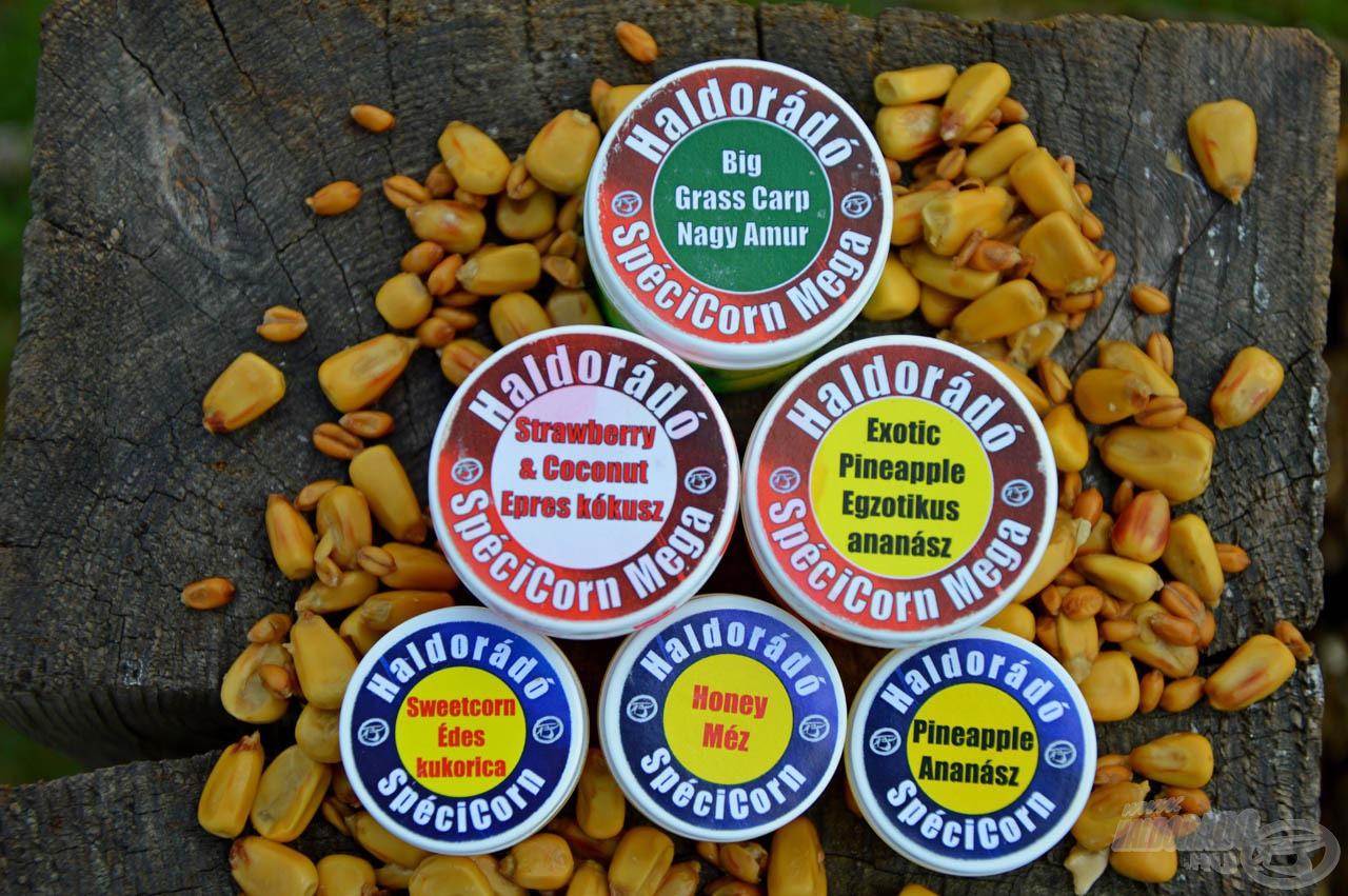 A SpéciCorn és SpéciCorn Mega csalik aromájuk miatt könnyen észrevehetőek a terített asztalon
