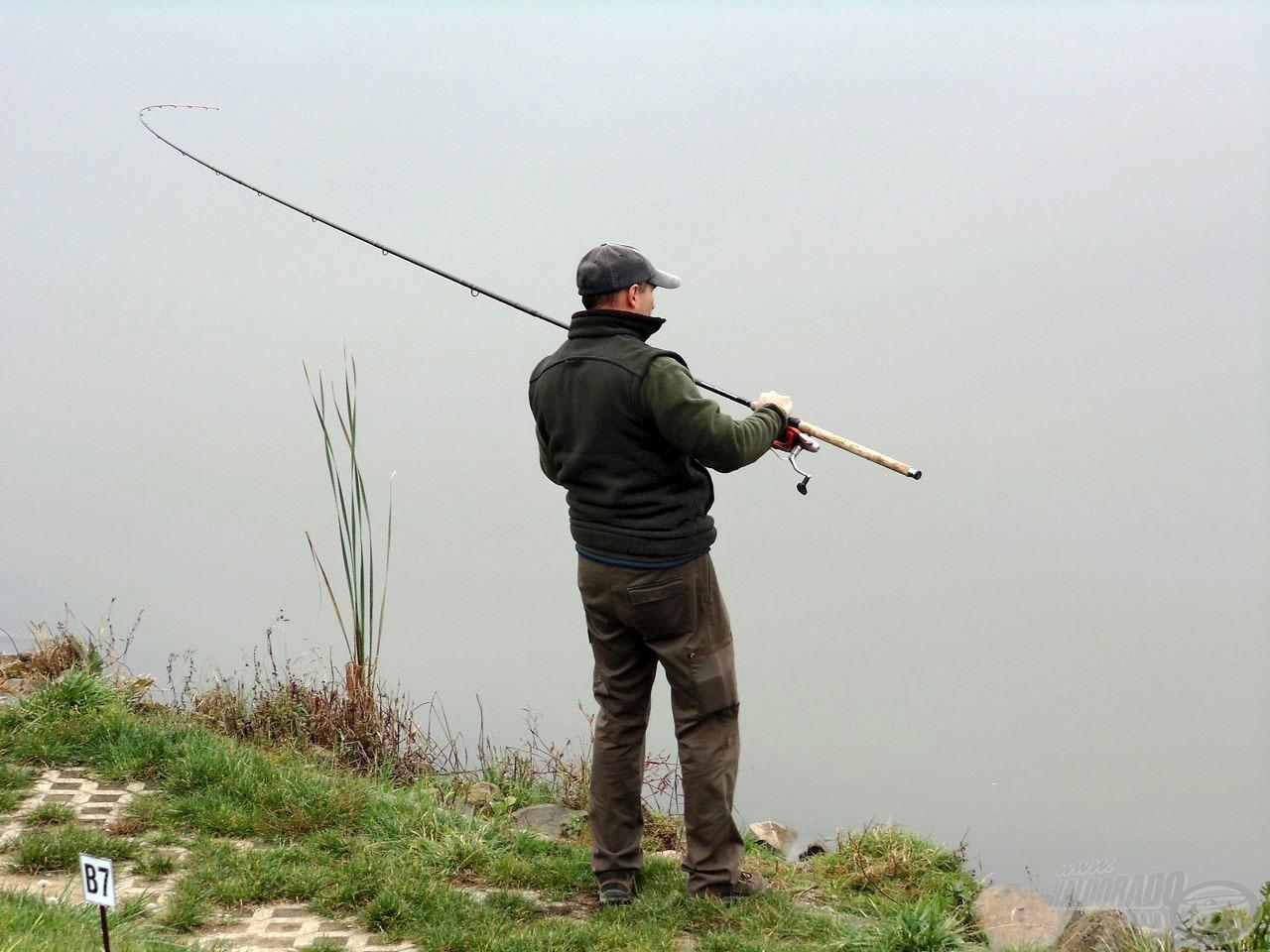 Nem sok ponty került szákba Maconkán, de egy-egy termetes hal hamar az élre repíthette kifogóját!