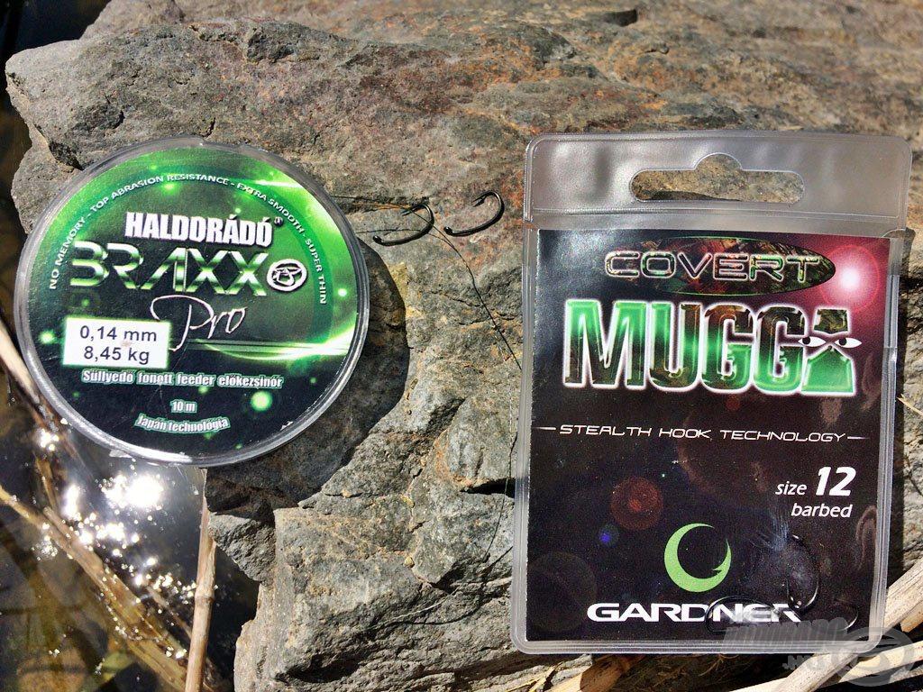 A horogelőkémet ezúttal is a Haldorádó Braxx Pro és a Gardner Mugga párosa alkotta