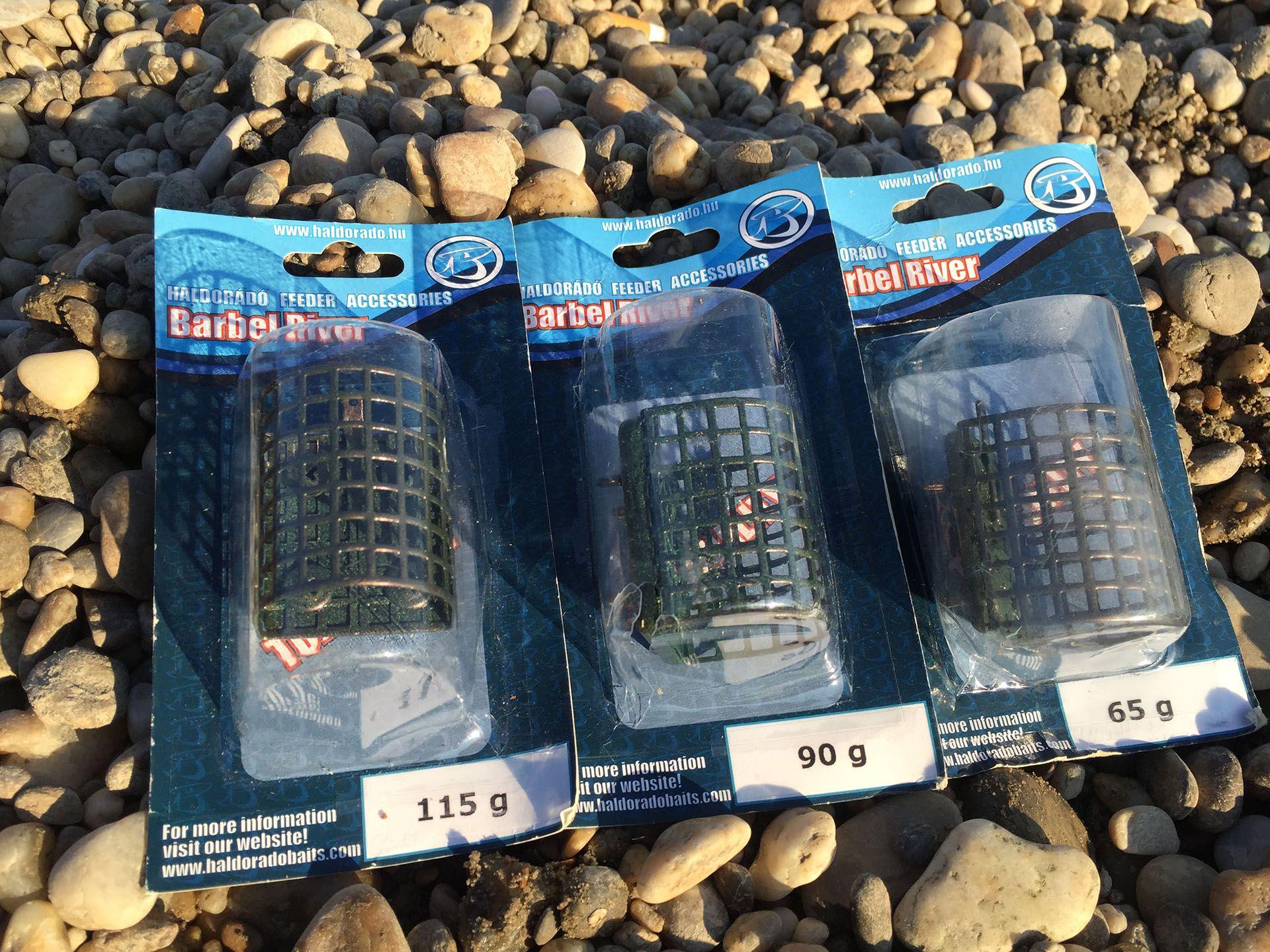 … a Haldorádó Barbel River kosarakat használta 3 különböző méretben