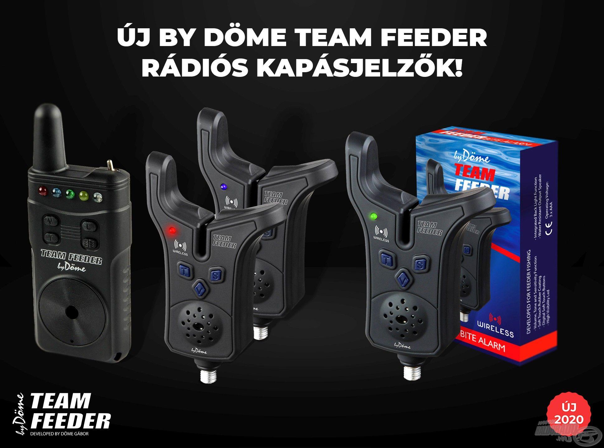 A 2020-as évben büszkén mutatjuk be a TEAM FEEDER Elektromos Kapásjelző továbbfejlesztett, rádiós vevőegységgel kiegészített változatait, melyeket egy 2+1-es készletben, valamint egy különálló, egyben az előbbivel kompatibilis Wireless készülék formájában kínálunk!