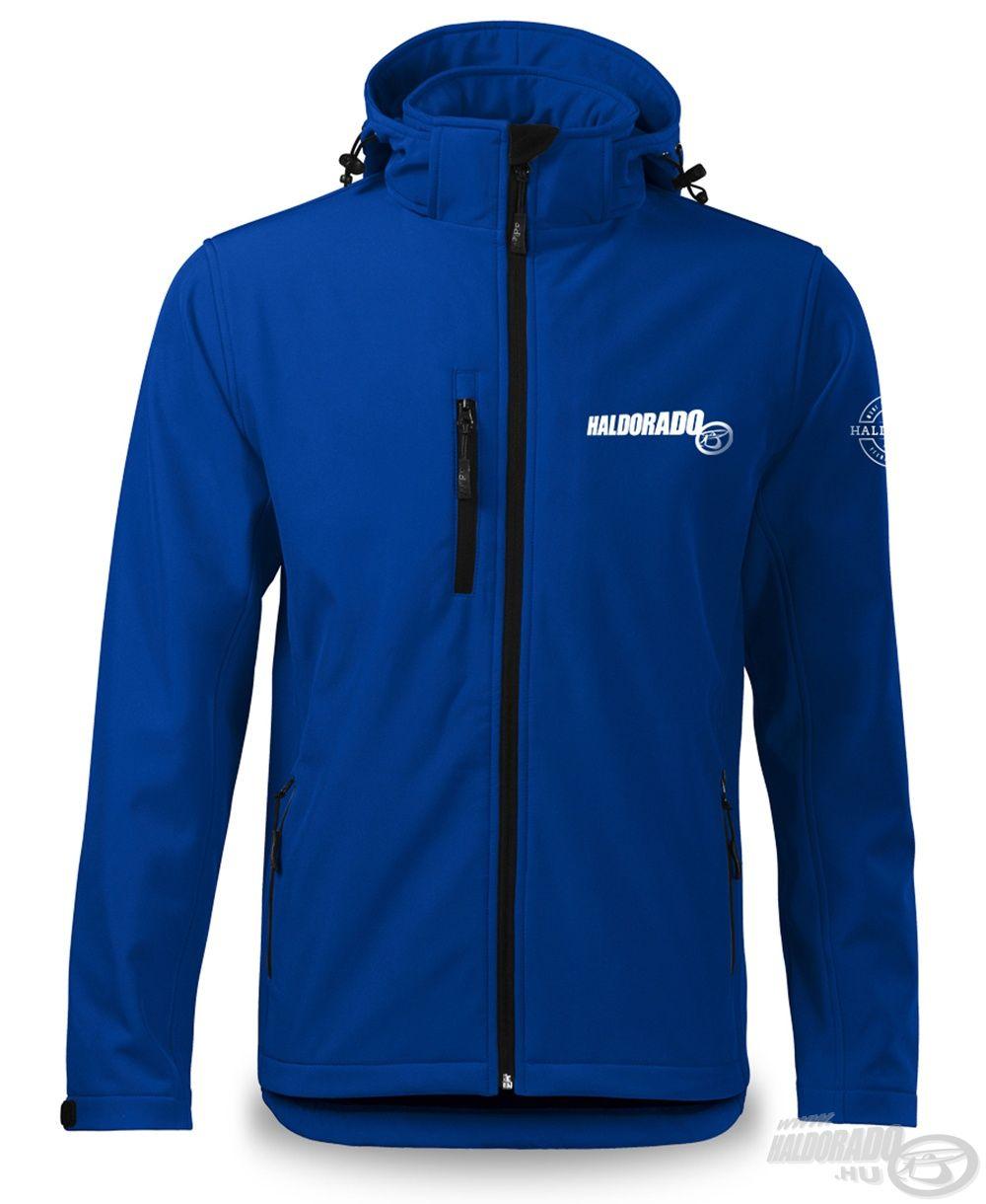 A Feeder Team Softshell Performance királykék színű kabát 94% poliészter és 6% elasztán anyagból készült