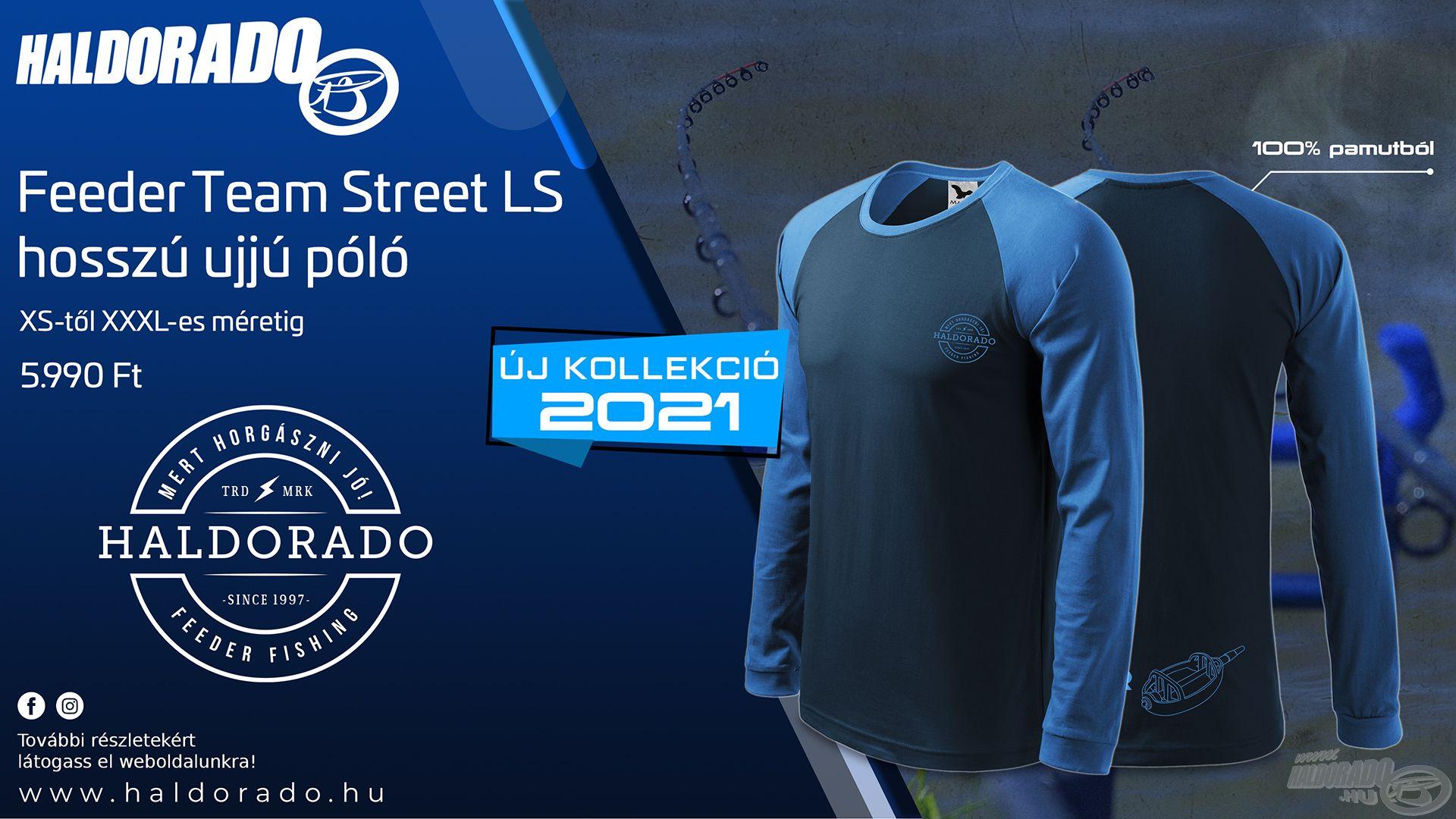 Újabb extra vagány és divatos taggal bővült a saját fejlesztésű, Haldorádó ruházataink kínálata! Íme, a Feeder Team Street LS hosszú ujjú póló kollekció!
