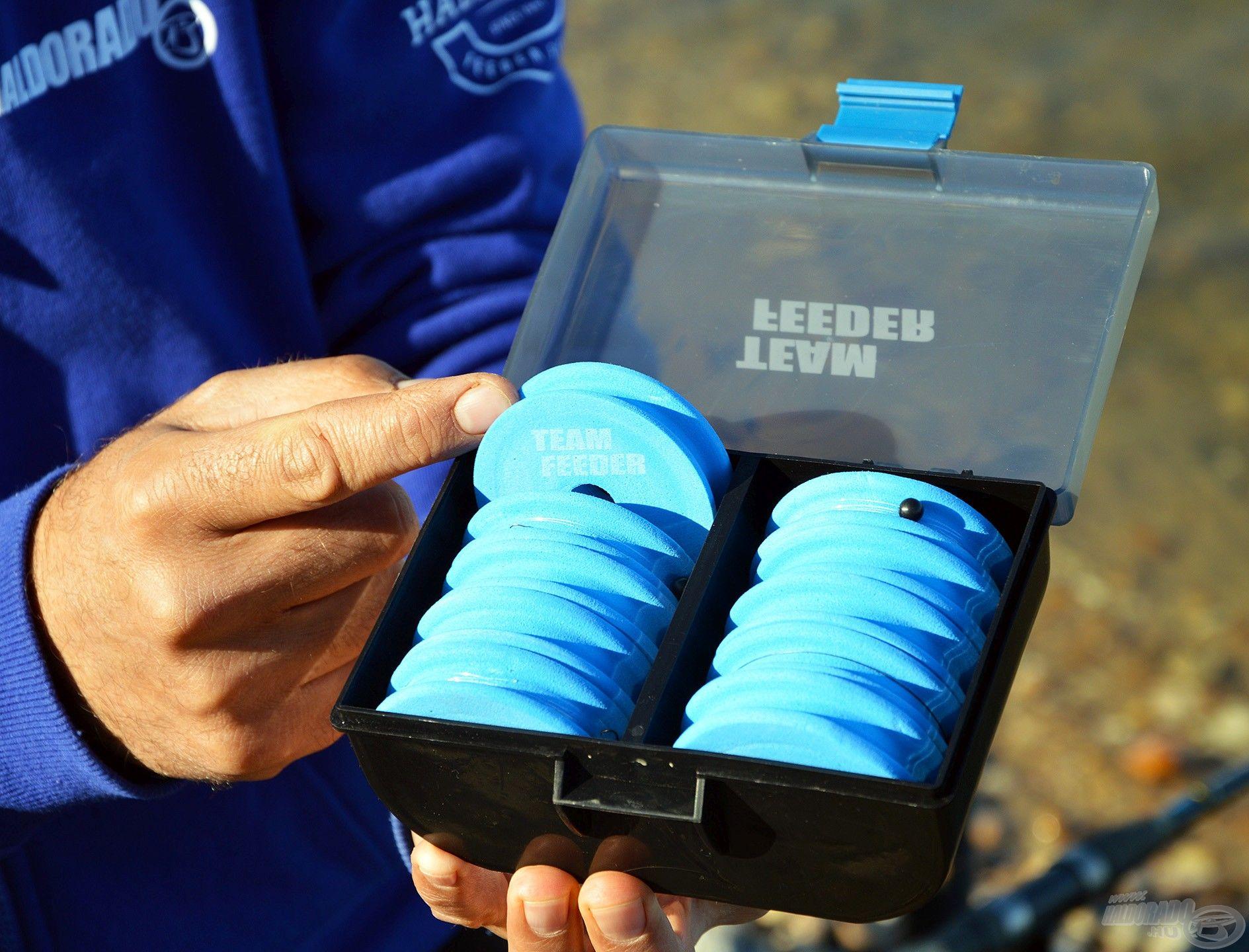 Az EVA dobok átmérője 6,5 cm