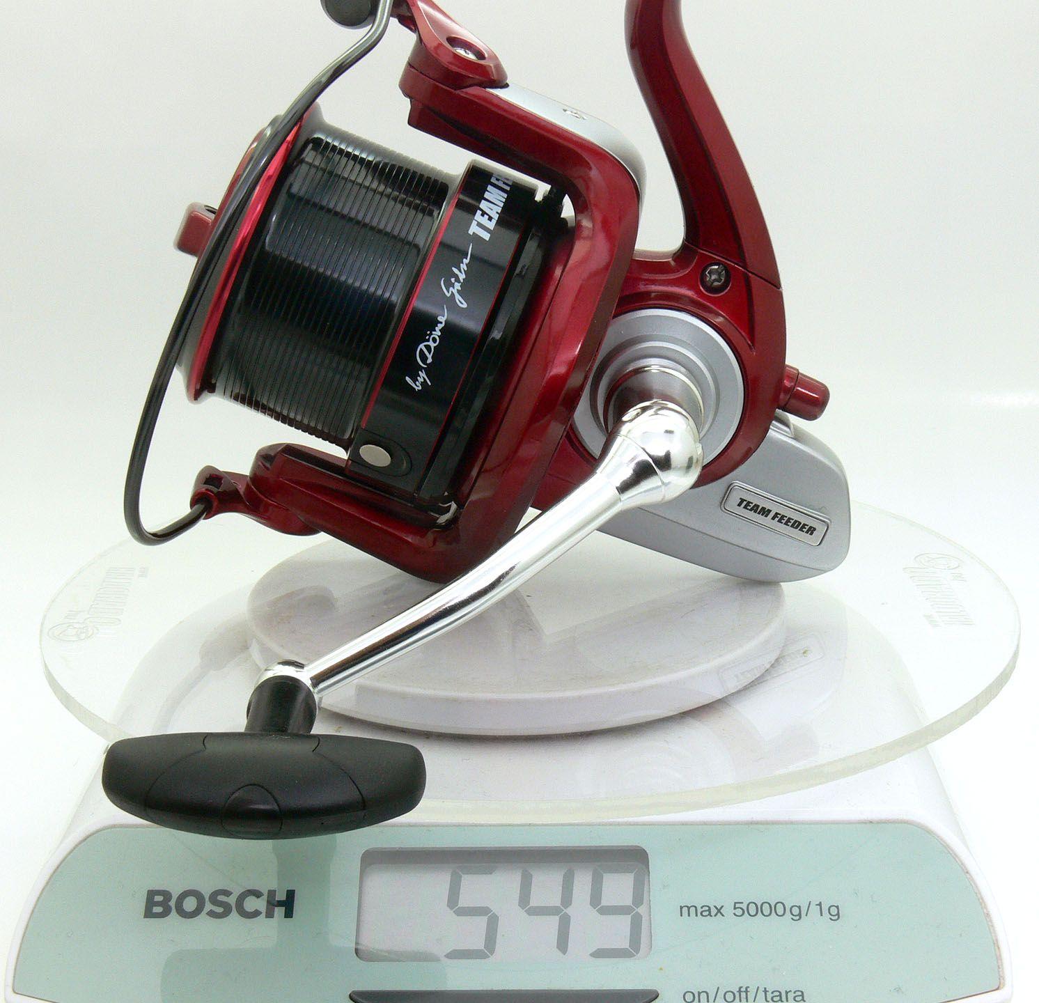 Az előd, TEAM FEEDER Long Cast orsó súlya 549 gramm…