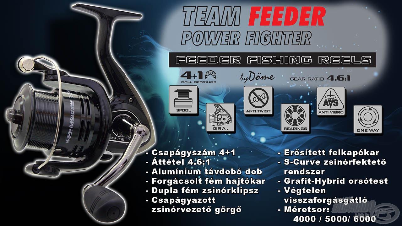 A By Döme TEAM FEEDER repertoár egyik legújabb, 2017-es konstrukciója a Power Fighter orsó széria