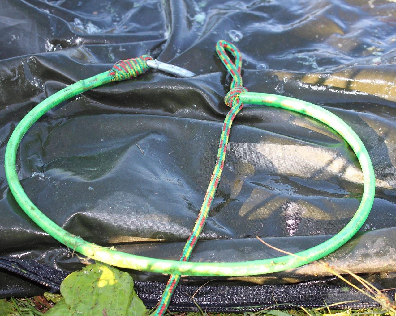 Ezzel a kötéllel elkerülhető, hogy a kikötött harcsa sérüljön