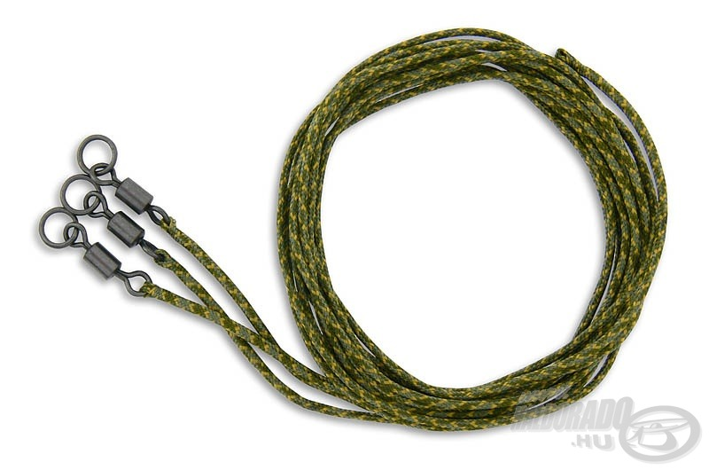 A csomagban három darab ólombetétes zsinórra szerelt és gyűrűs forgóval (Flexi Ring Swivel) kombinált szereléket találtok
