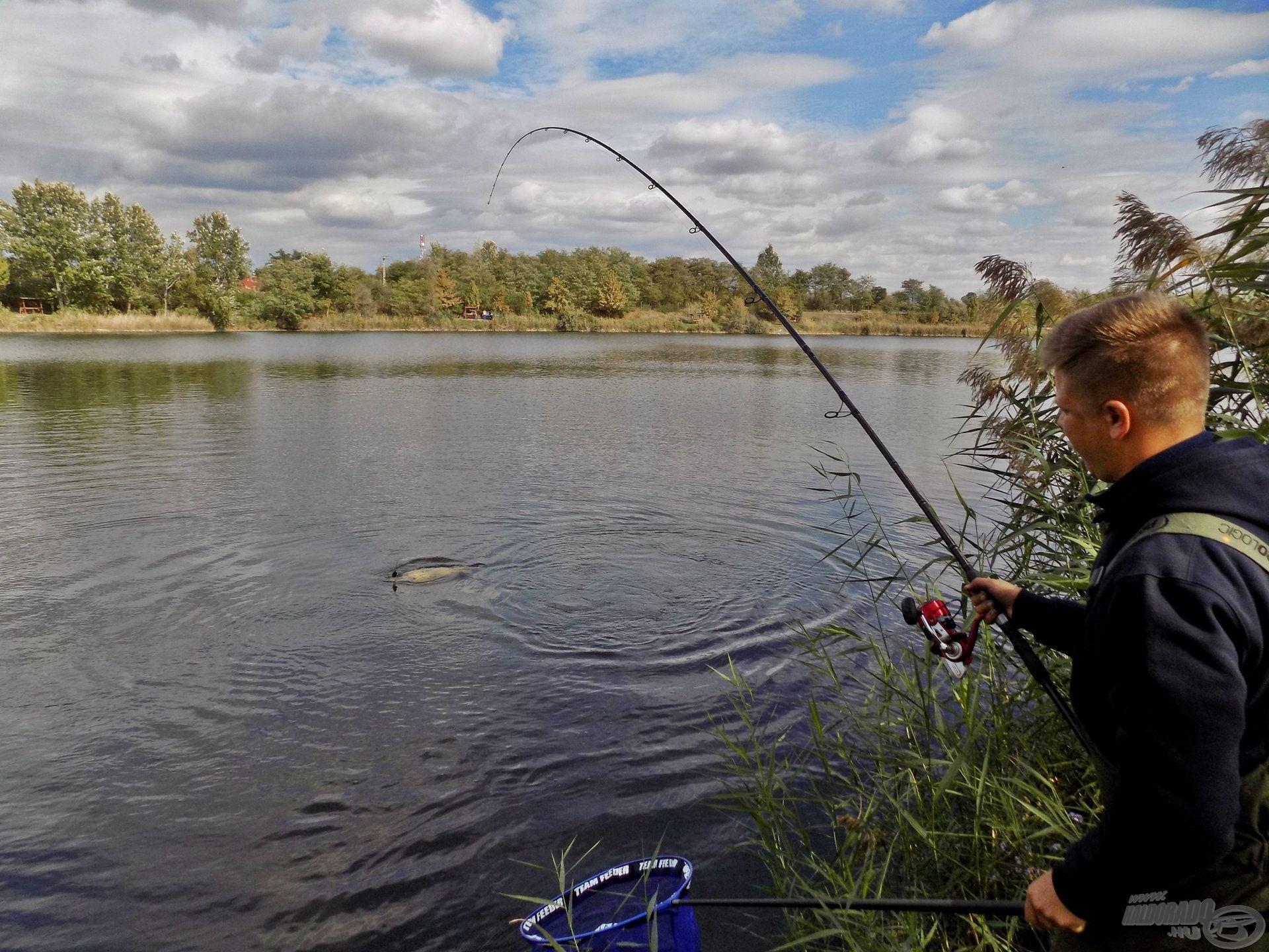 Bugyinszki Gábor Orosházán, az Új Homokbánya tavon horgászott…