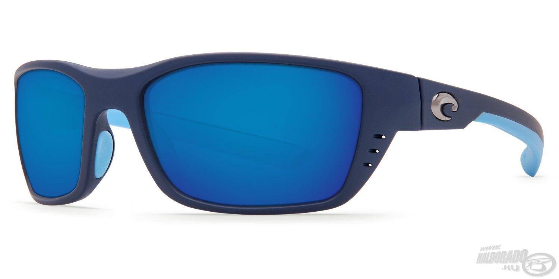 A Whitetip Blue Mirror szintén azoknak kedvez, akik a sportos kialakítású szemüvegeket részesítik előnyben