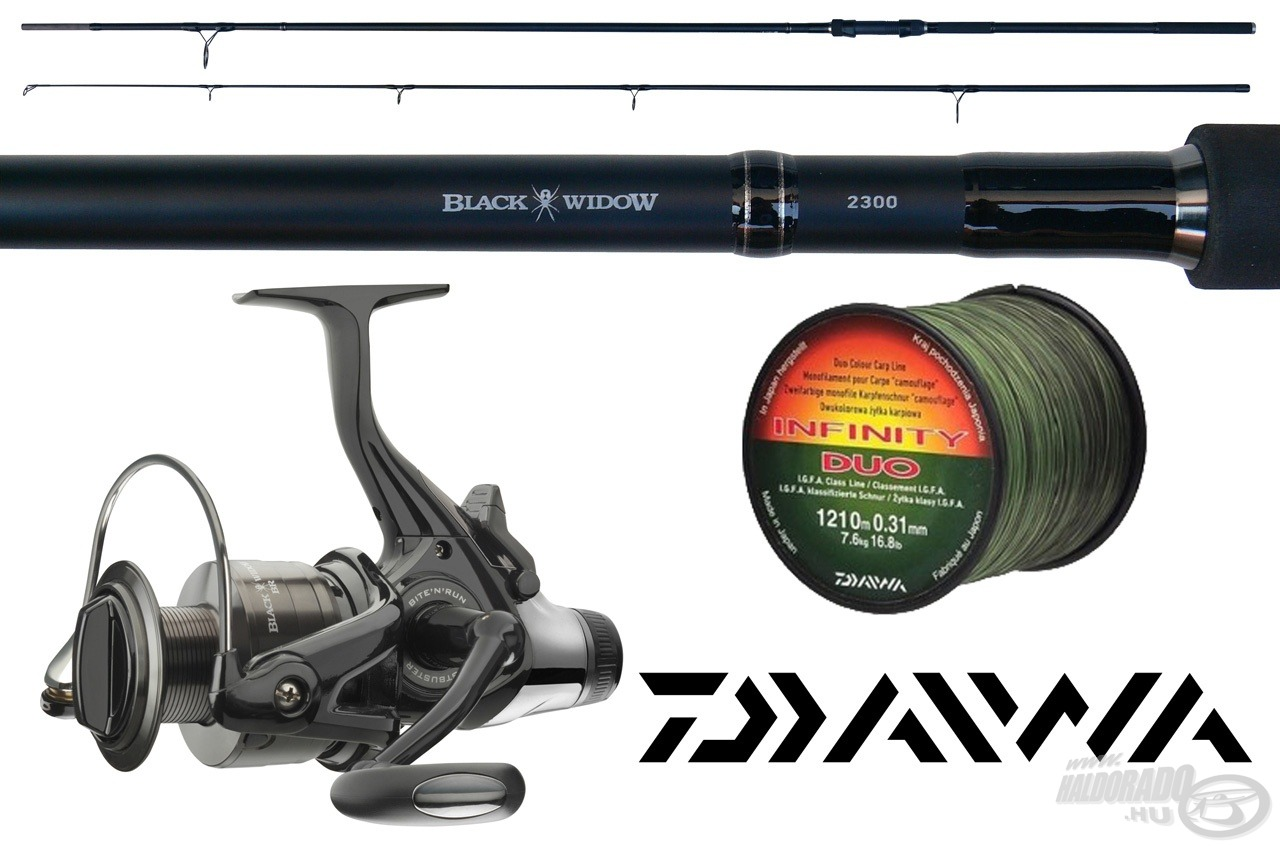 A Daiwa Black Widow bojlis szett értéke meghaladja az 50.000 Ft-ot!