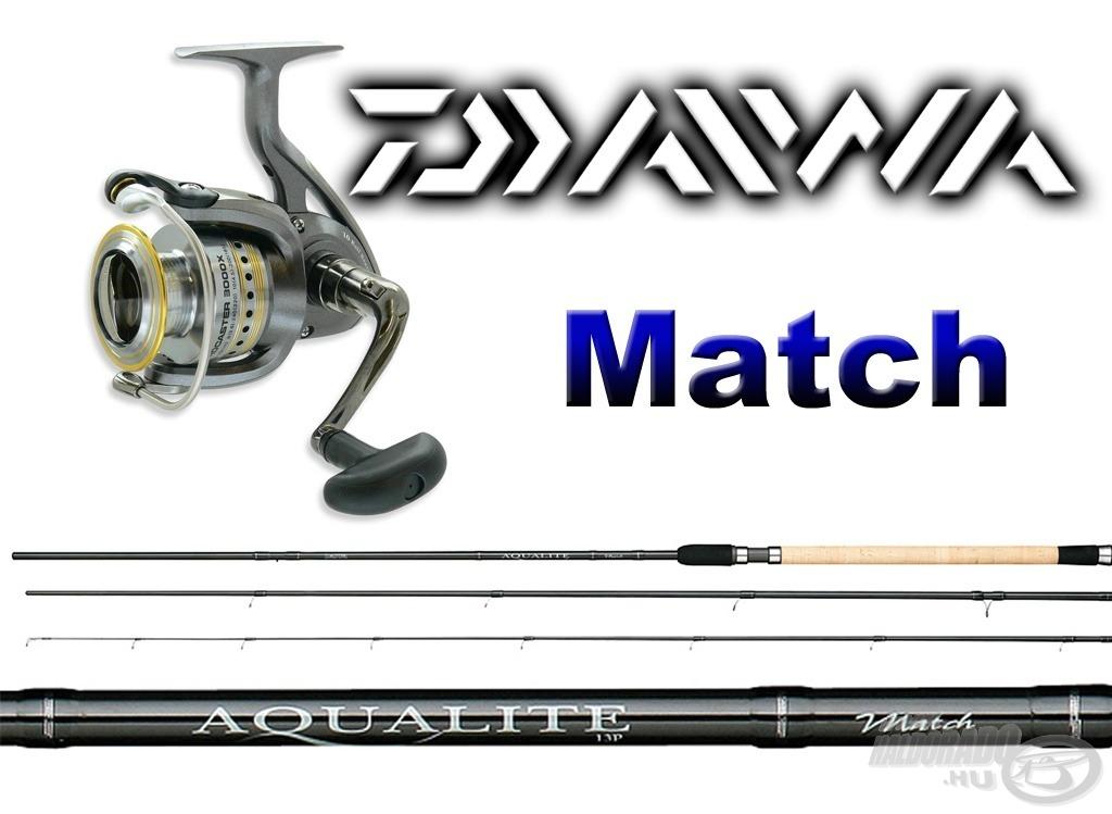 A matchbotos horgászat szerelmesei a DAIWA AQUALITE Power Matchbot 3,90 m-es változatára, hozzá a DAIWA Procaster 3500X orsóra pályázhatnak