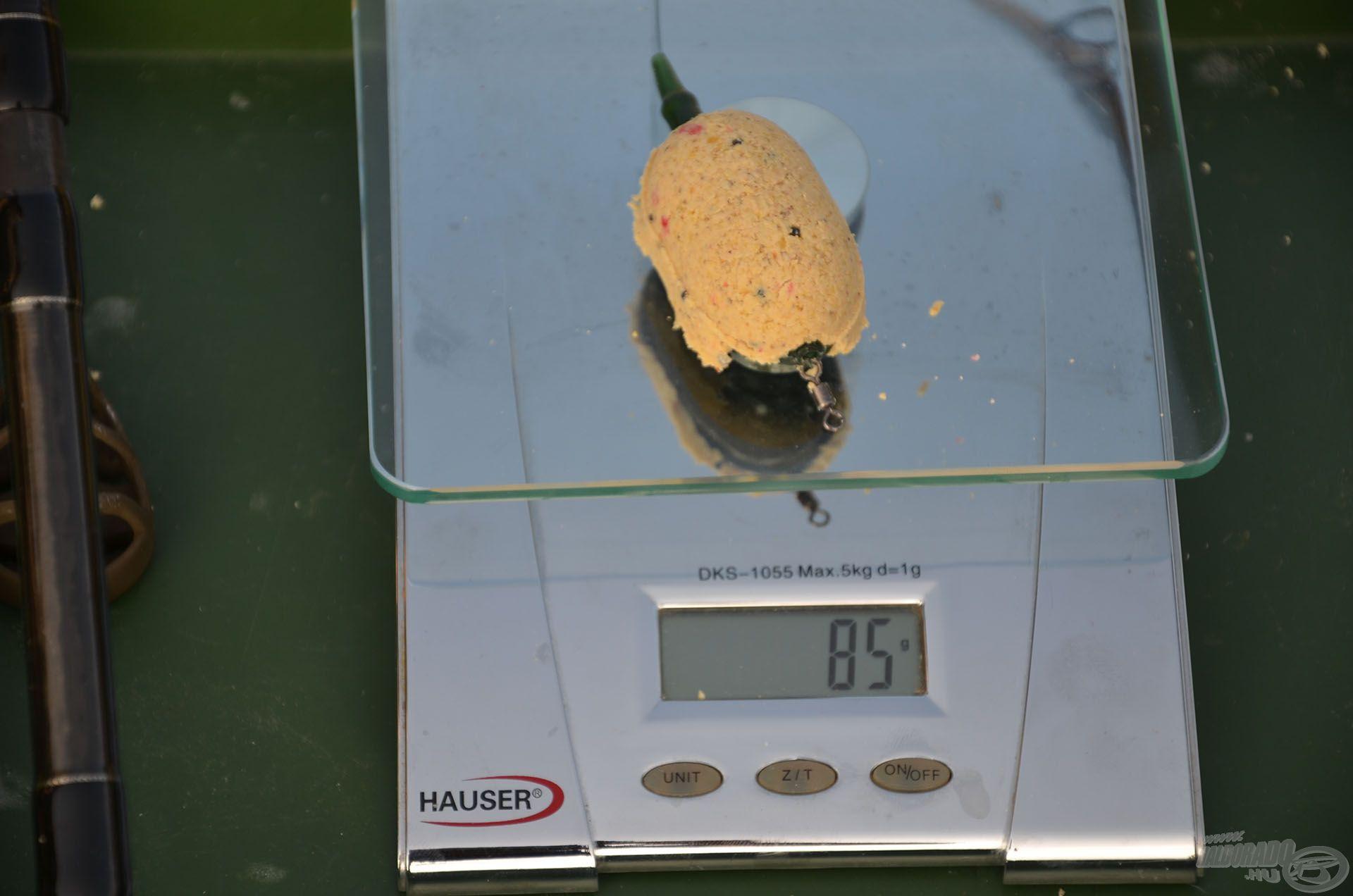 Megtöltve 85 gramm