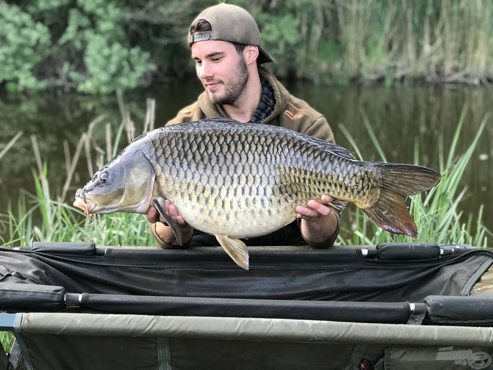 A túra legszebb és legnagyobb hala ez a 12 kg-os töves volt