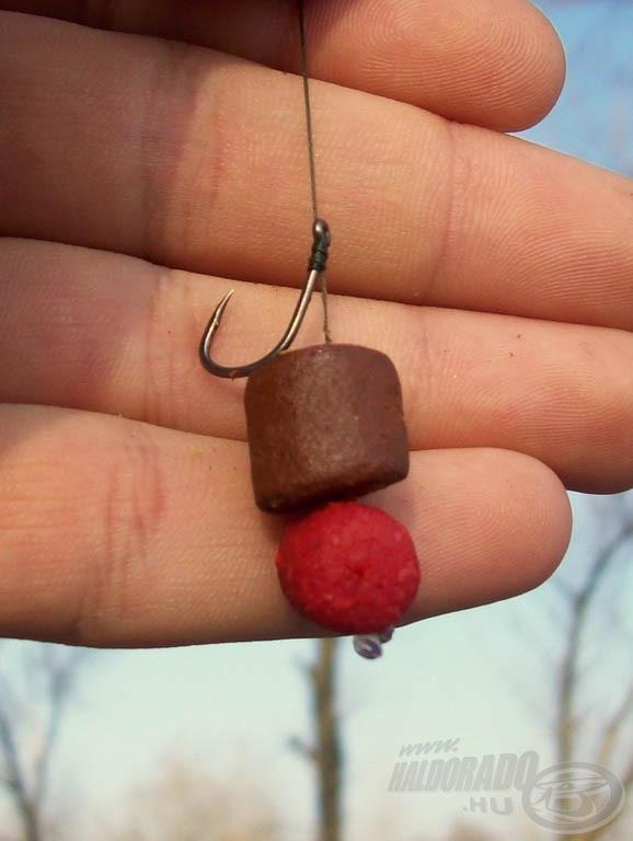 Gábor a Red Tuning Pelletekkel is szívesen kombinálja az Oldódó Pelleteket