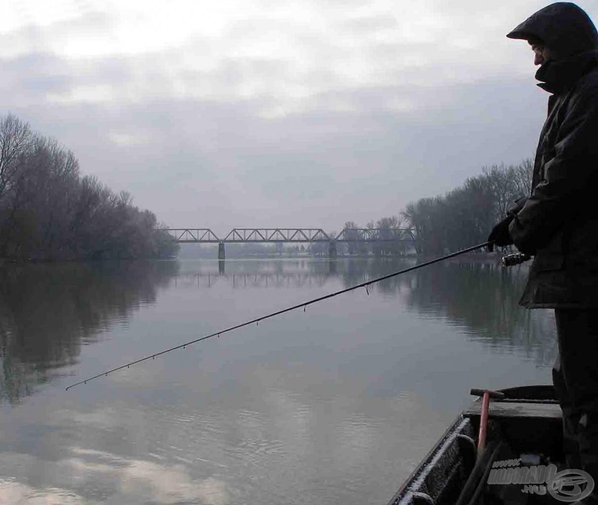 Ha nincs jégpáncél a folyókon, érdemes pergetni télen is!