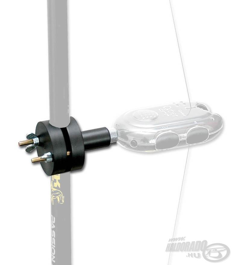 Az adapterrel harcsás botunkra rögzíthetjük fel kapásjelzőnket
