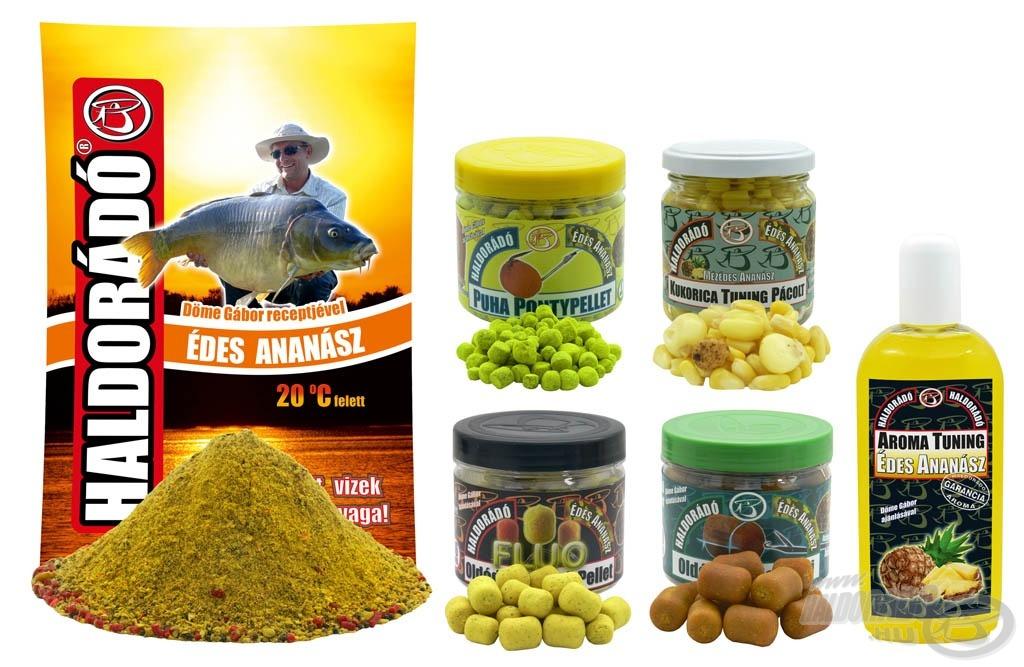 Az Édes Ananász család olyan nyári csalogatóanyagokat tartalmaz, amely a kis halsűrűségű (természetes és horgászegyesületi) tavakon igazán fogósak