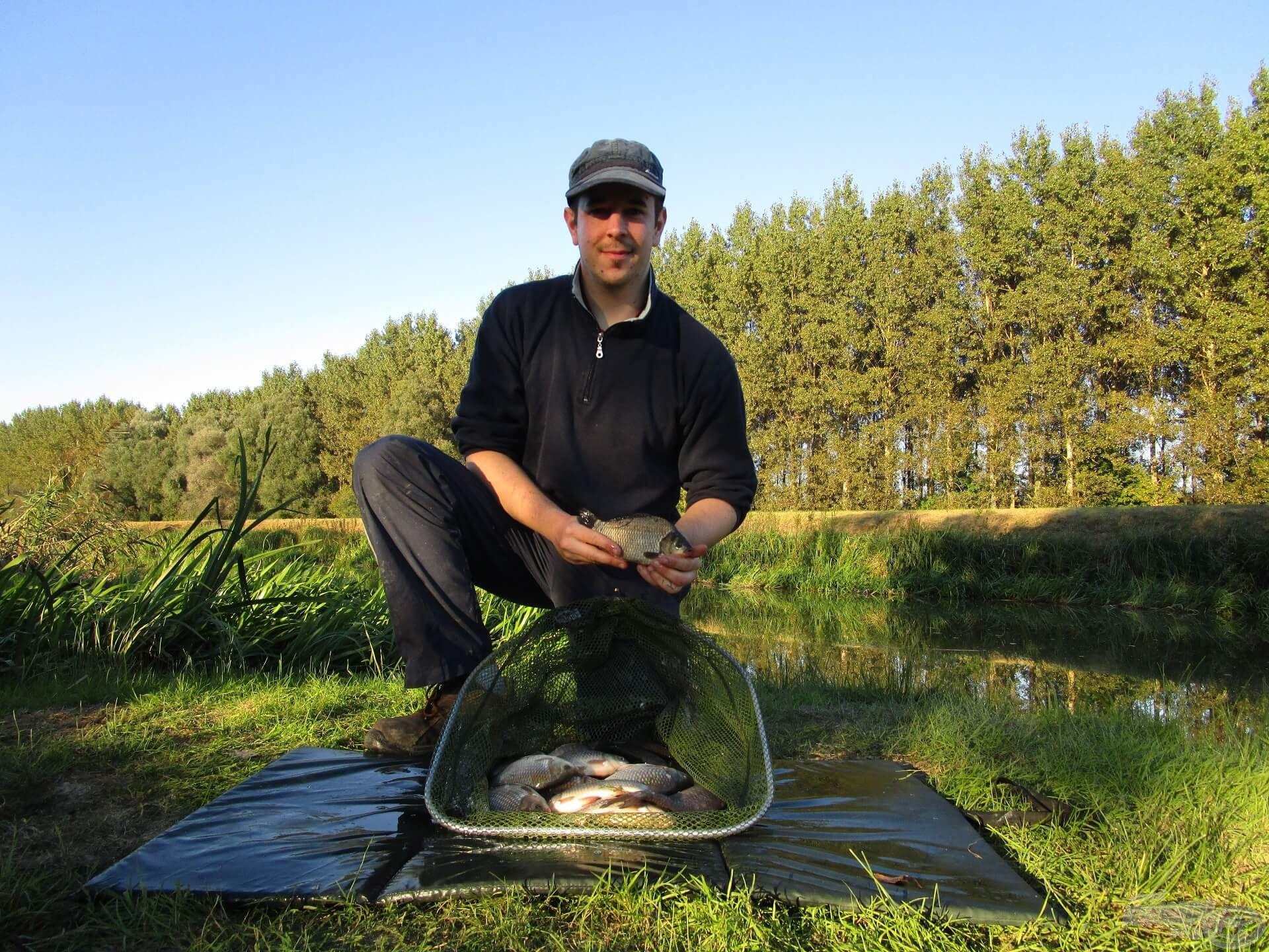 A kárászokat és a törpeharcsát hazavittem. Idegenhonos halak, ezért nem jó, ha jelen vannak egy természetes vízben