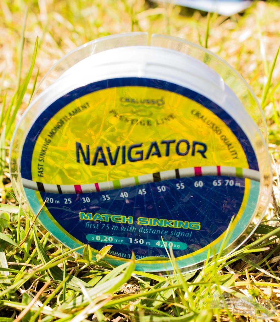 A Cralusso Navigator zsinórja matchbotos horgászoknak