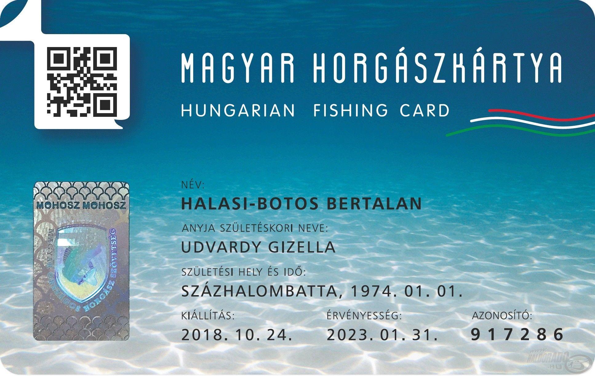 Így fog kinézni az új, egységes horgászokmány